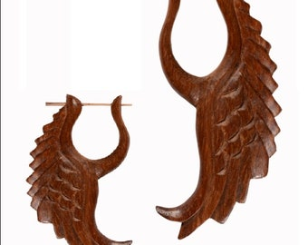African Black Wooden Handmade Antique design Wood Stick Earring ER367