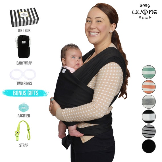 Newborn Infants Baby Carrier Cotton Wrap Sling Stretchy Comfort Breathable