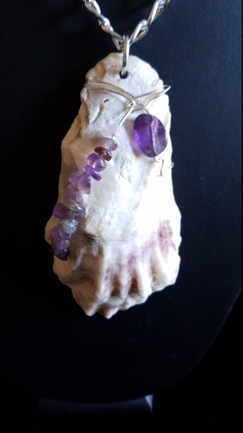 Amethyst Shell Pendant
