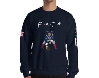 1f0bc070f New England Patriots Championship Rep Yo Team Navy Blue or Red Sweatshirt