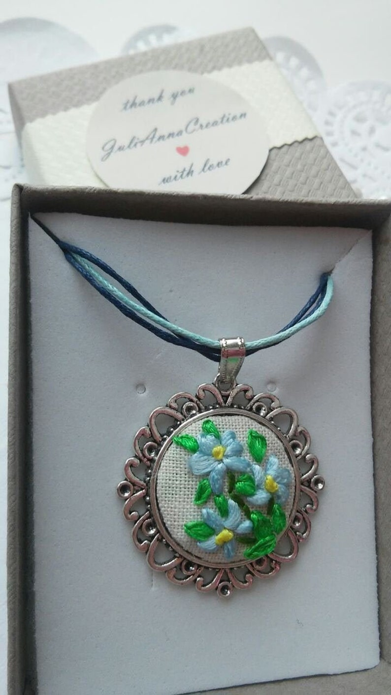 Flower bouquet necklace Floral jewelry handmade gifts for her women
