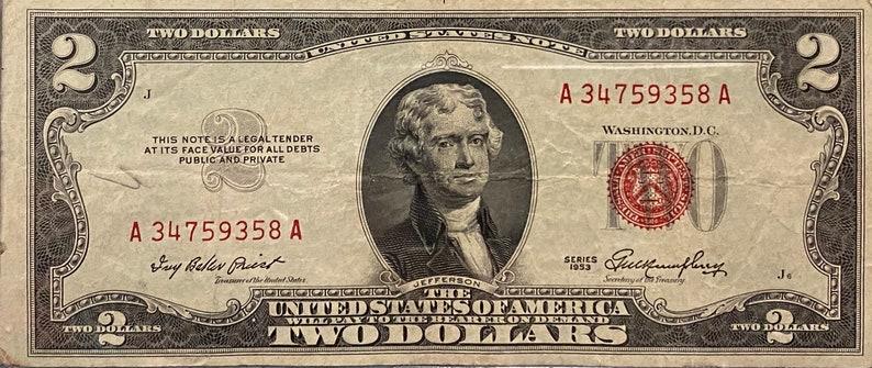 Zwei Dollar Schein
