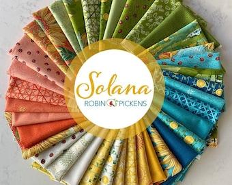 Solana Half Yard Bundle Fat quarter Bundle, Charm Pack, Layer Cake, Jelly Roll By Robin Pickens for Moda Fabrics