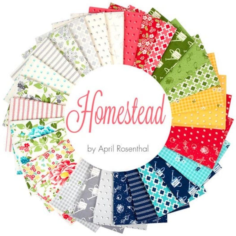 Fat Eighth Bundle Homestead Fat Quarter Bundle Jelly Roll Layer Cake Honey Bun Charm Pack by April Rosenthal For Moda Fabrics