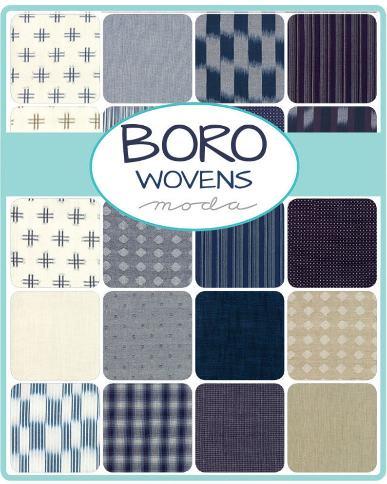 Boro Fat Quarter Bundle by Moda Fabrics