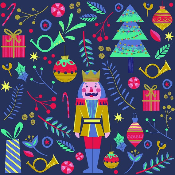 Wrapped Up Quilt Kit Featuring Night of the Nutcracker by Paint Brush Studio