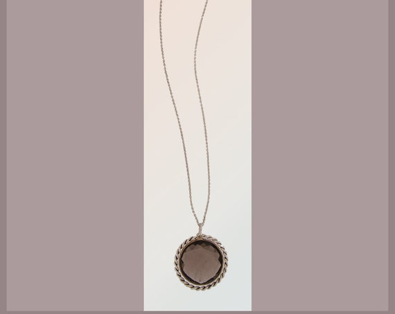 Bridesmaid Cristelle silver necklace with smoke quartz