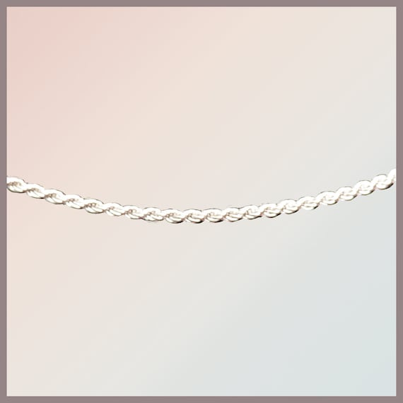 Sterling silver necklace in drawstring style