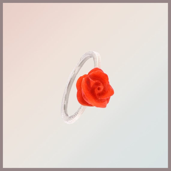 Angelina-Angel Coral Roses Ring