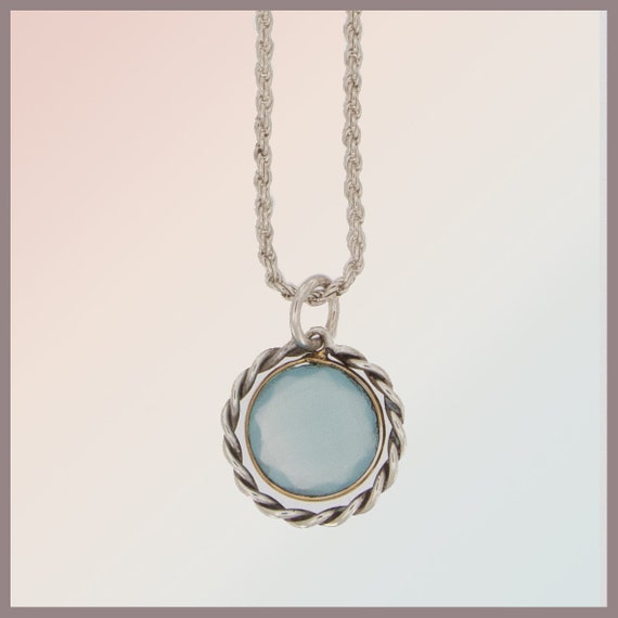 Bridesmaid Nana silver necklace with Chalcedon