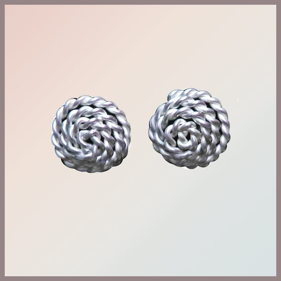 Statement Earring (Pair) INKA in twisted Silver