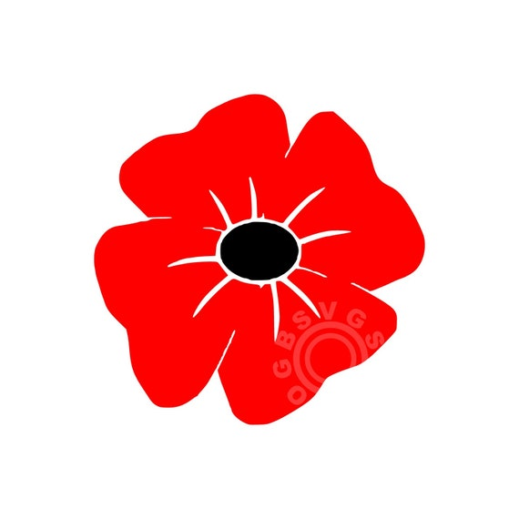 poppy for remembrance day armistice day svg printable cut
