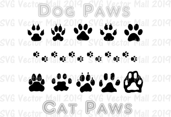 Paws Svg Cat Svg Cat Paws Dog Paws Animal Paws Animal Etsy