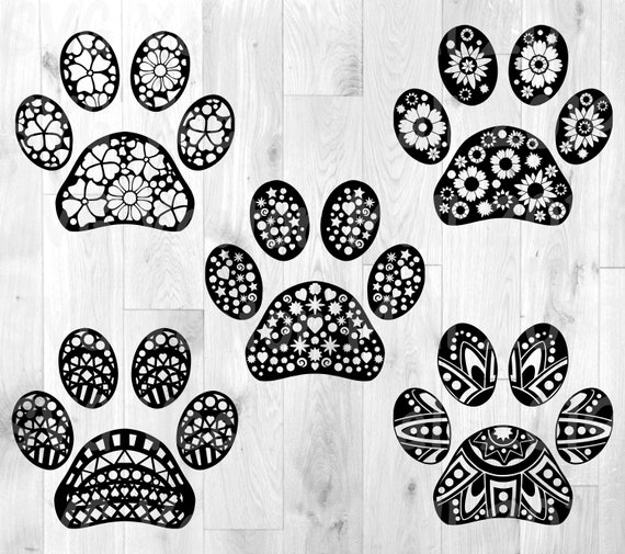 Download Paws SVG clipart paw prints paw patterns animal paw   Etsy