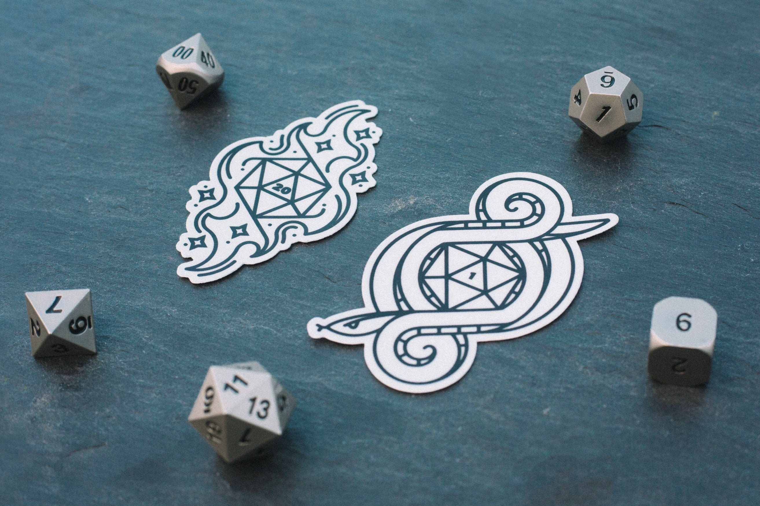 """3"""" Sticker D20 Nerd Critical Hit RPG Table Top Dungeons Dragons Dice Epic Roll"""