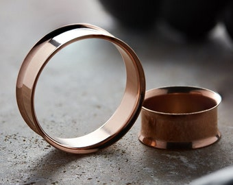 Rose Gold Steel Double Flare Tunnel | Steel Plug | Gauge