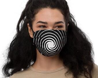 Reusable Face Mask | Hypnotic Swirl | Hypnotizing Twirl Face Mask | Adjustable Face Mask | Filter Pocket Face Mask