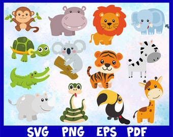 Safari Animals Svg Etsy