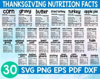 Thanksgiving Nutrition Facts svg,Nutrition food facts svg,Thanksgiving holiday svg,Christmas Nutrition Facts svg