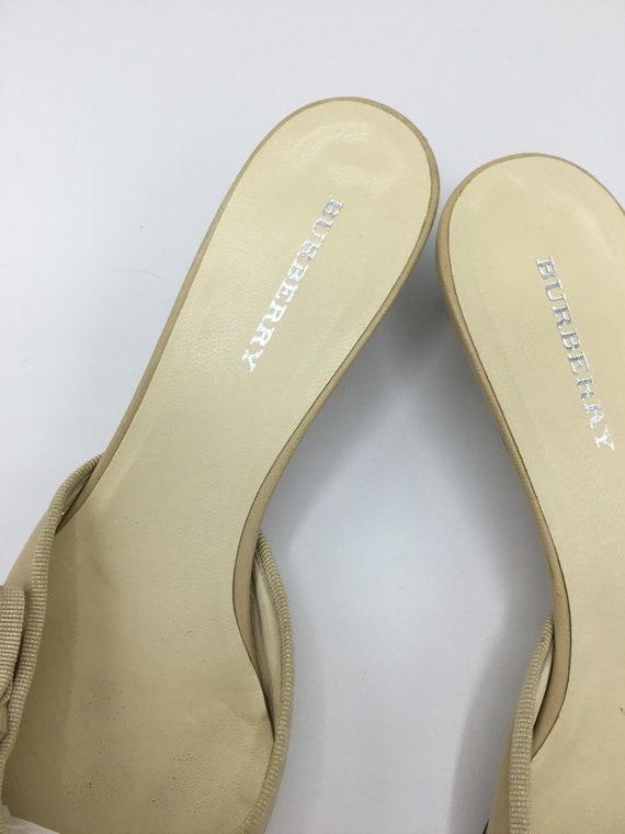 Burberry kitten heels Beige/  Tan /Mules/ Slides - image 7