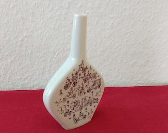 Porcelain liqueur bottle by Riemerschmid