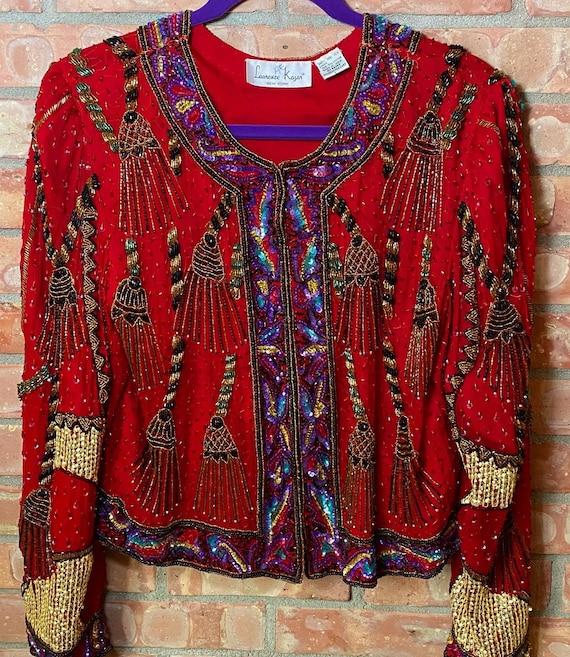 Vintage Sequin Jacket Seed Beads1980sGorgeous1980s Sequin JacketLaurence Kazar