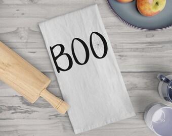 Halloween Decor - Boo Tea Towel - Halloween Gift - Housewarming Gift