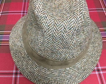 2104f292 Gents Green Harris Tweed Trilby Hat