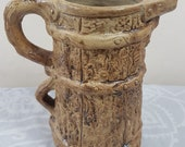 Hillstonia Pottery Jug Double Handled Marked 9722