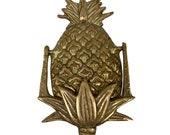 5-1 2 quot Antiqued Brass Pineapple Door Knocker- Antique Vintage Style