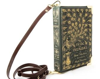 Pride and Prejudice Book Bag, Jane Austen Book Purse, Book Clutch, Book Lover Gift, Crossbody Bag, Literary Gift, Square Bag,Girlfriend Gift