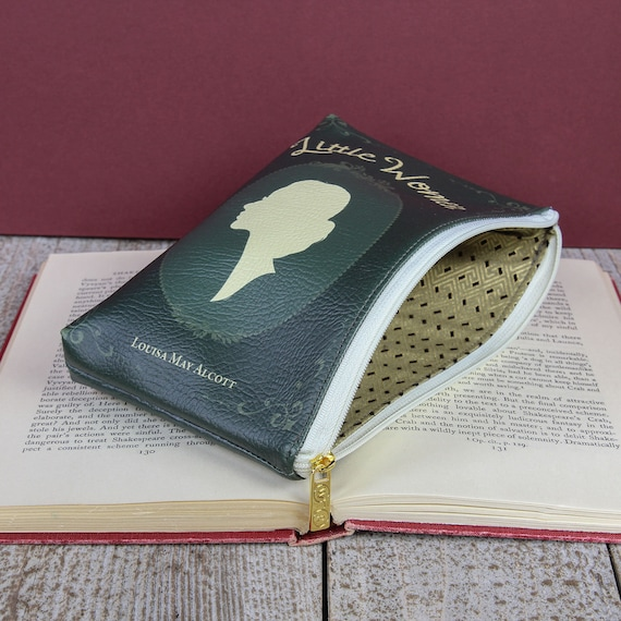 Book Purse Little Women, Book Pouch, Book Lovers Gift, Make Up Pouch, Stationary Pouch, Louisa May Alcott