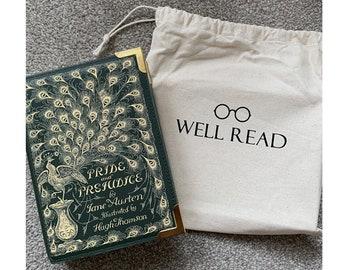 Pride and Prejudice Book Bag, Regency Bag, Book Lover Gift by WellReadCompany
