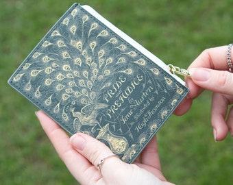 Pride and Prejudice Card Holder, Mini Book Wallet, Coin Purse, Book Card Purse, Book Cardholder, Jane Austen Book Lover Gift, Teacher Gift