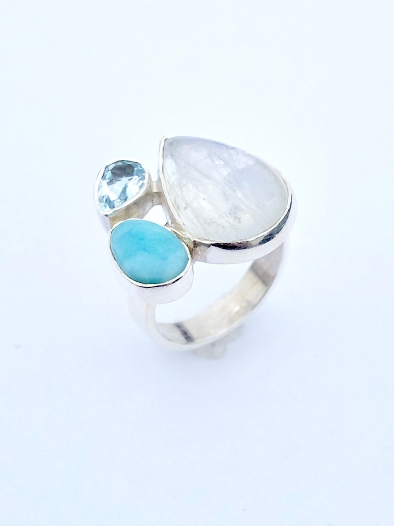 Stunning Topaz crystal ring in Sterling Silver