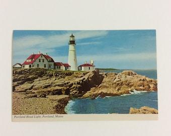 "Vintage Post Card Portland Head Light Casco Bay Maine 3.5""x5.5"" Unposted"