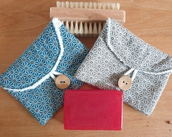 Soap bags made of cotton and soft terry cloth