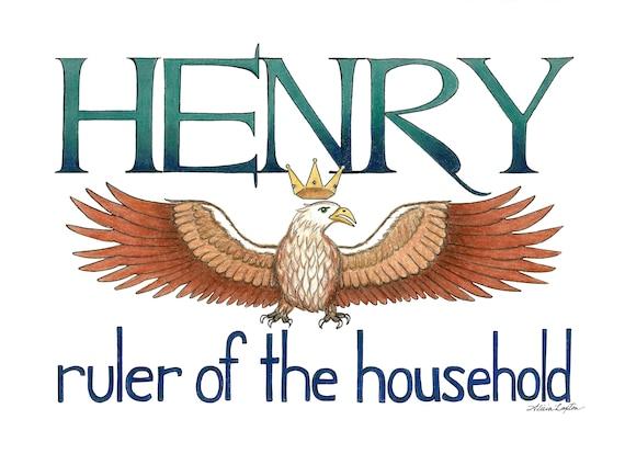 Henry Unique Name Art Print Etsy