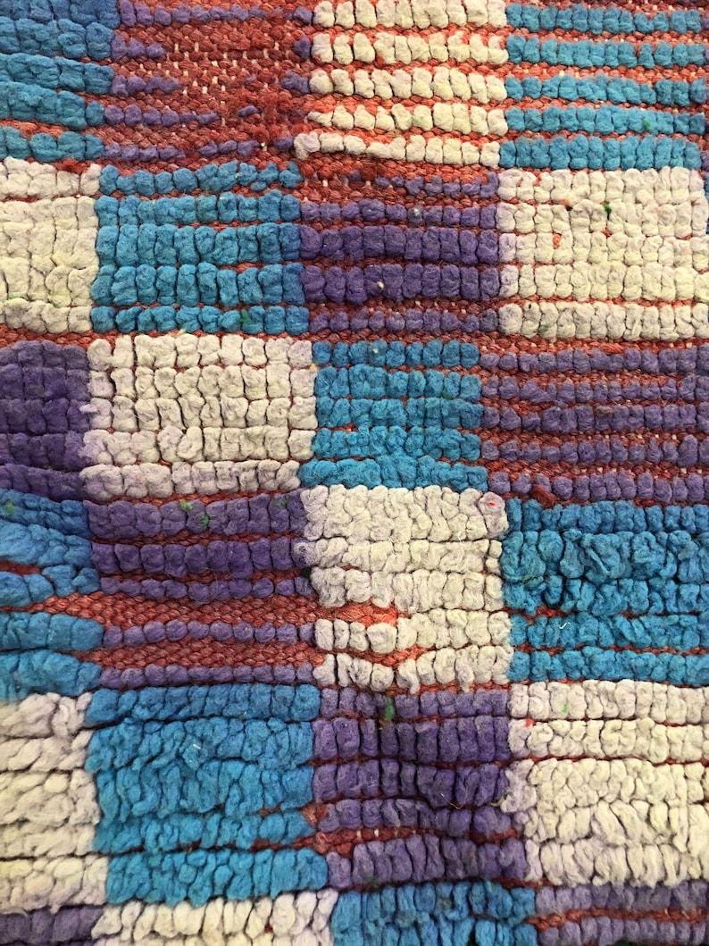 6.5x2ft vintqge runner rug  checkered board hallway rug