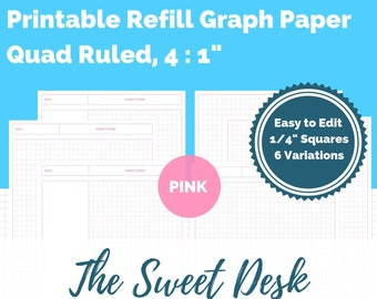 Graph Paper Refill Etsy