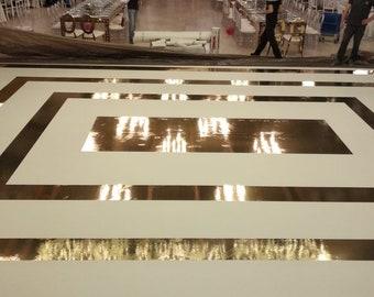 Gold Floor Mirror Etsy
