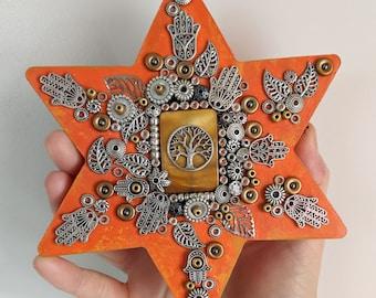 Jewish Star Mosaic Art