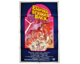 The EMPIRE STRIKES BACK Movie Poster R820180 27x41 1982 Star Wars Sequal Re-Release