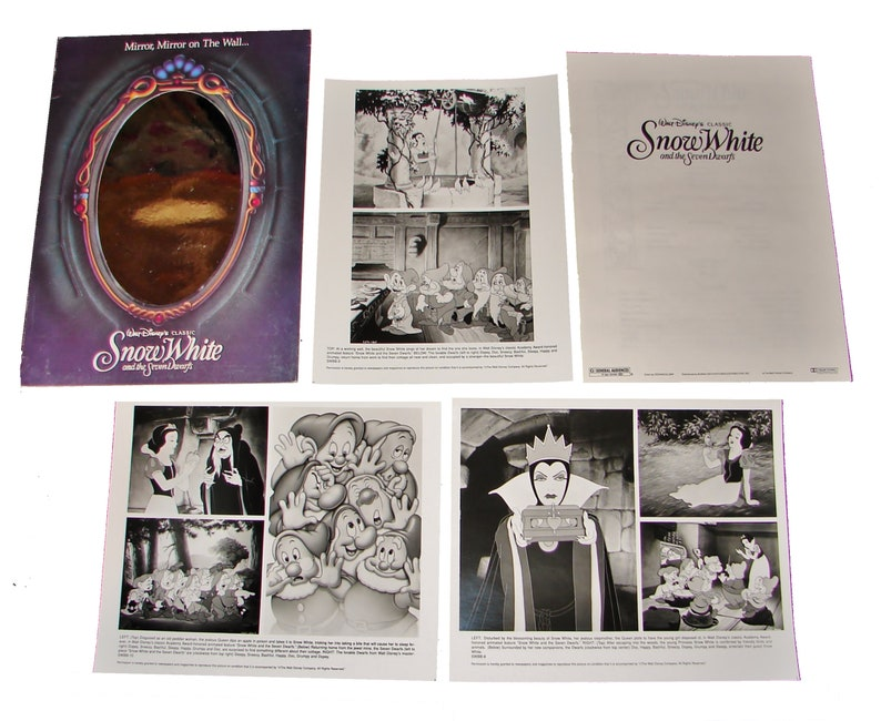 1993 SNOW WHITE And The 7 DWARVES Walt Disney Re-Release image 0