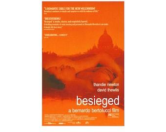 Original 1998 BESIEGED Bernardo Bertolucci Movie POSTER 27x40 Thandie Newton Single-Sided Sheet Poster aka L'assedio