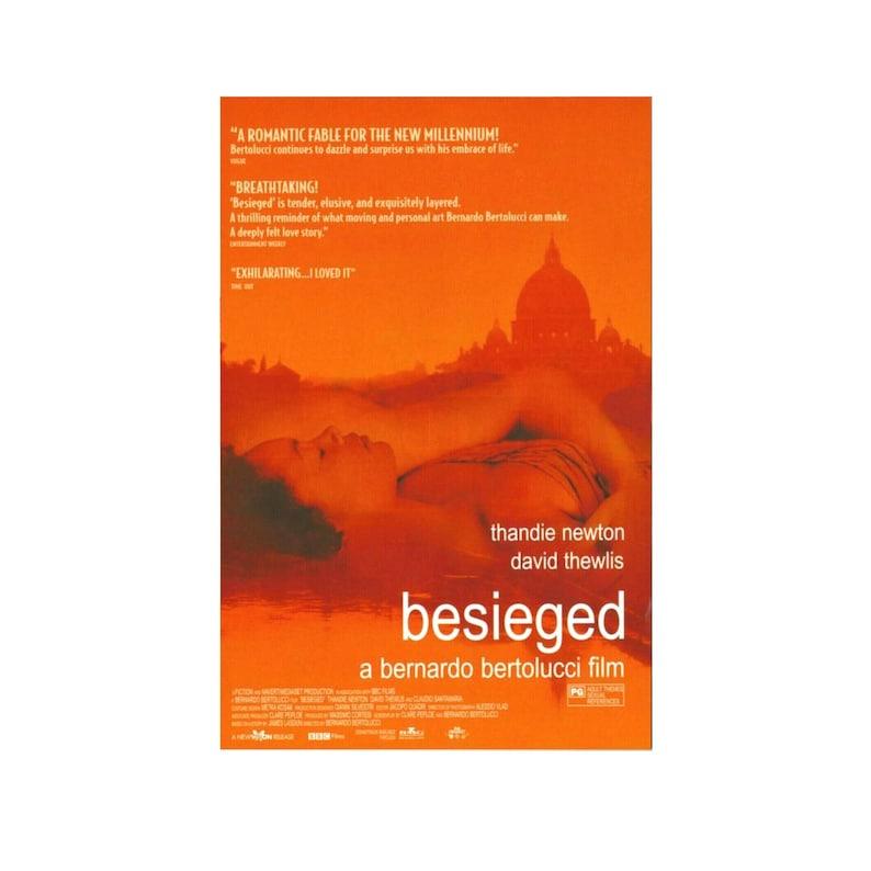 Original 1998 BESIEGED Bernardo Bertolucci Movie POSTER 27x40 image 0