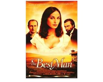 Original 1997 THE BEST MAN Movie P0STER 27x40 Single Sided Sheet Poster aka Il testimone dello sposo Diego Abatantuono Inés Sastre Dario Can