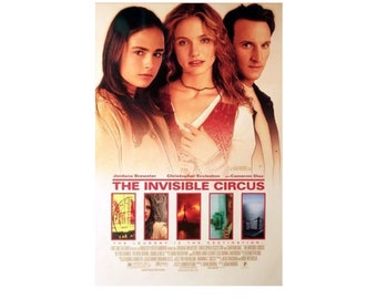 Original 1999 THE INVISIBLE CIRCUS Movie P0STER 27x40 Single-Sided Sheet Poster Christopher Eccleston Cameron Diaz Jordana Brewster