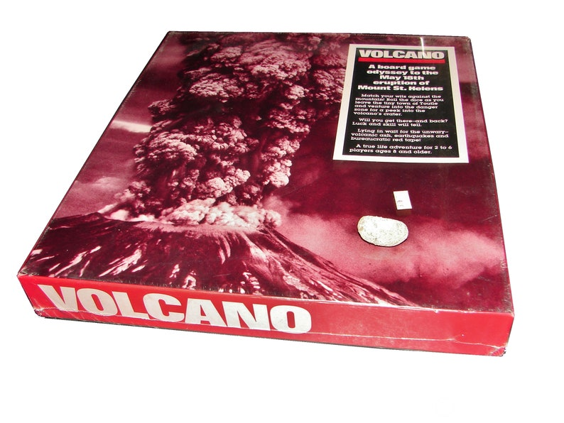 1980 Mt. St. Helens Eruption VOLCANO Board Game NEW Factory image 0