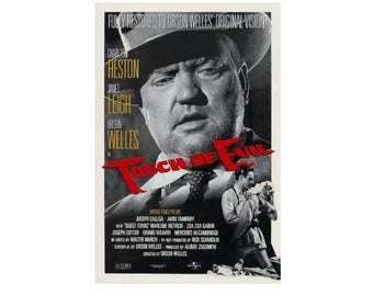 Original 1998 TOUCH OF EVIL Movie P0STER 27x40 40th Anniversary Re-Release 1958 Orson Welles Movie Single-Sided Sheet Poster